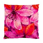 Geometric Magenta Garden Standard Cushion Case (Two Sides) Back