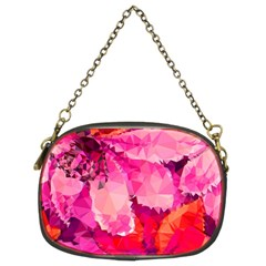 Geometric Magenta Garden Chain Purses (two Sides)