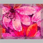 Geometric Magenta Garden Canvas 14  x 11  14  x 11  x 0.875  Stretched Canvas