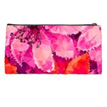 Geometric Magenta Garden Pencil Cases Back