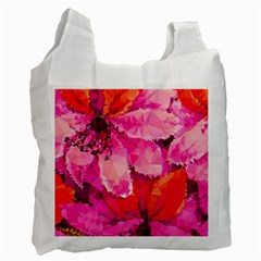 Geometric Magenta Garden Recycle Bag (one Side)