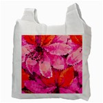 Geometric Magenta Garden Recycle Bag (Two Side)  Back