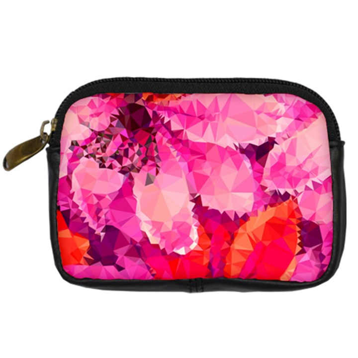 Geometric Magenta Garden Digital Camera Cases