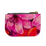 Geometric Magenta Garden Mini Coin Purses Back