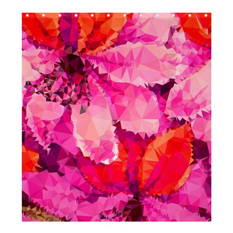 Geometric Magenta Garden Shower Curtain 66  x 72  (Large)