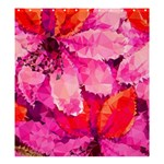 Geometric Magenta Garden Shower Curtain 66  x 72  (Large)  66 x72 Curtain