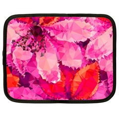Geometric Magenta Garden Netbook Case (xl)