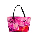 Geometric Magenta Garden Shoulder Handbags Front