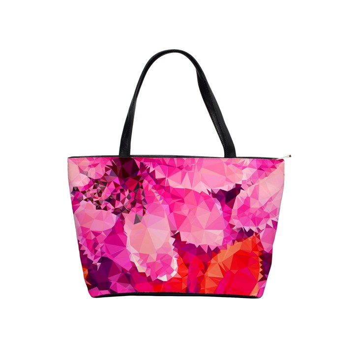 Geometric Magenta Garden Shoulder Handbags