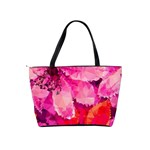 Geometric Magenta Garden Shoulder Handbags Back