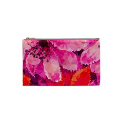 Geometric Magenta Garden Cosmetic Bag (Small)