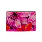 Geometric Magenta Garden Cosmetic Bag (Medium)  Front