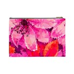 Geometric Magenta Garden Cosmetic Bag (Large)  Back
