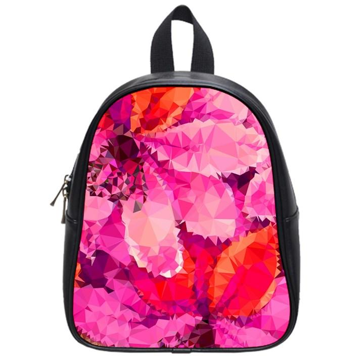 Geometric Magenta Garden School Bags (Small)
