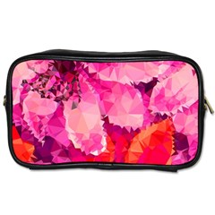 Geometric Magenta Garden Toiletries Bags 2 Side