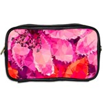 Geometric Magenta Garden Toiletries Bags 2-Side Back
