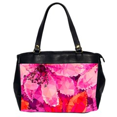 Geometric Magenta Garden Office Handbags (2 Sides)