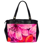Geometric Magenta Garden Office Handbags (2 Sides)  Back