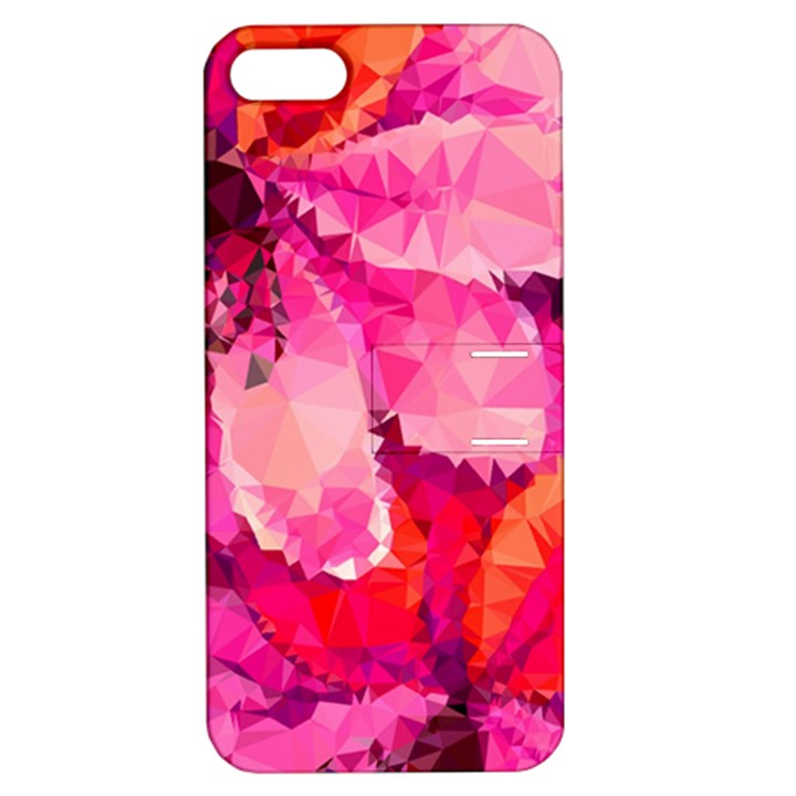 Geometric Magenta Garden Apple iPhone 5 Hardshell Case with Stand