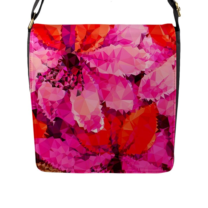 Geometric Magenta Garden Flap Messenger Bag (L)