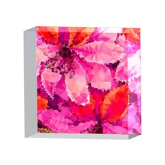 Geometric Magenta Garden 4 x 4  Acrylic Photo Blocks