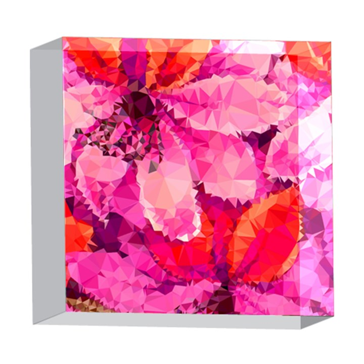Geometric Magenta Garden 5  x 5  Acrylic Photo Blocks