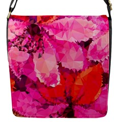Geometric Magenta Garden Flap Messenger Bag (s)