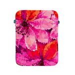 Geometric Magenta Garden Apple iPad 2/3/4 Protective Soft Cases Front