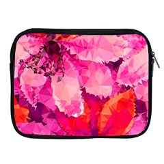 Geometric Magenta Garden Apple iPad 2/3/4 Zipper Cases