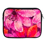 Geometric Magenta Garden Apple iPad 2/3/4 Zipper Cases Front