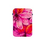 Geometric Magenta Garden Apple iPad Mini Protective Soft Cases Front
