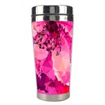 Geometric Magenta Garden Stainless Steel Travel Tumblers Left