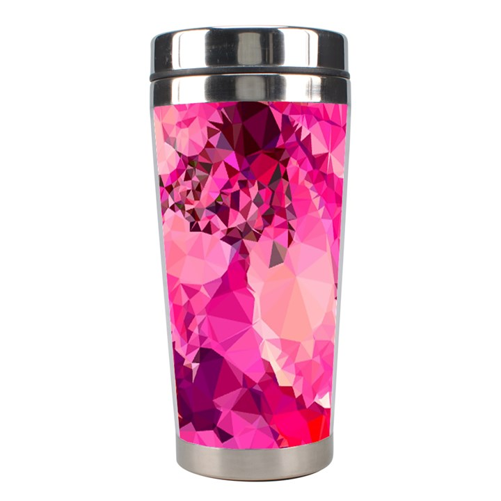 Geometric Magenta Garden Stainless Steel Travel Tumblers