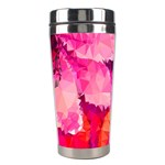 Geometric Magenta Garden Stainless Steel Travel Tumblers Center