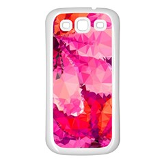 Geometric Magenta Garden Samsung Galaxy S3 Back Case (White)