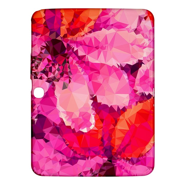 Geometric Magenta Garden Samsung Galaxy Tab 3 (10.1 ) P5200 Hardshell Case