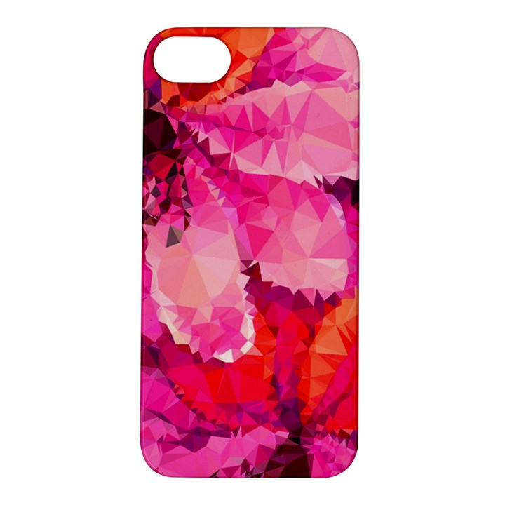 Geometric Magenta Garden Apple iPhone 5S/ SE Hardshell Case