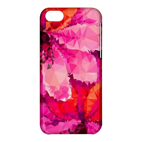 Geometric Magenta Garden Apple iPhone 5C Hardshell Case