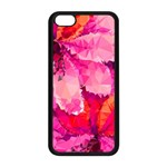 Geometric Magenta Garden Apple iPhone 5C Seamless Case (Black) Front