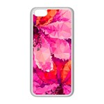 Geometric Magenta Garden Apple iPhone 5C Seamless Case (White) Front