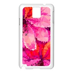 Geometric Magenta Garden Samsung Galaxy Note 3 N9005 Case (White)