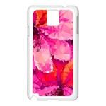 Geometric Magenta Garden Samsung Galaxy Note 3 N9005 Case (White) Front