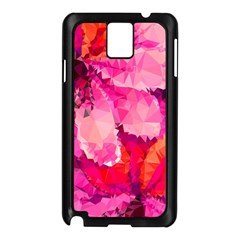 Geometric Magenta Garden Samsung Galaxy Note 3 N9005 Case (Black)