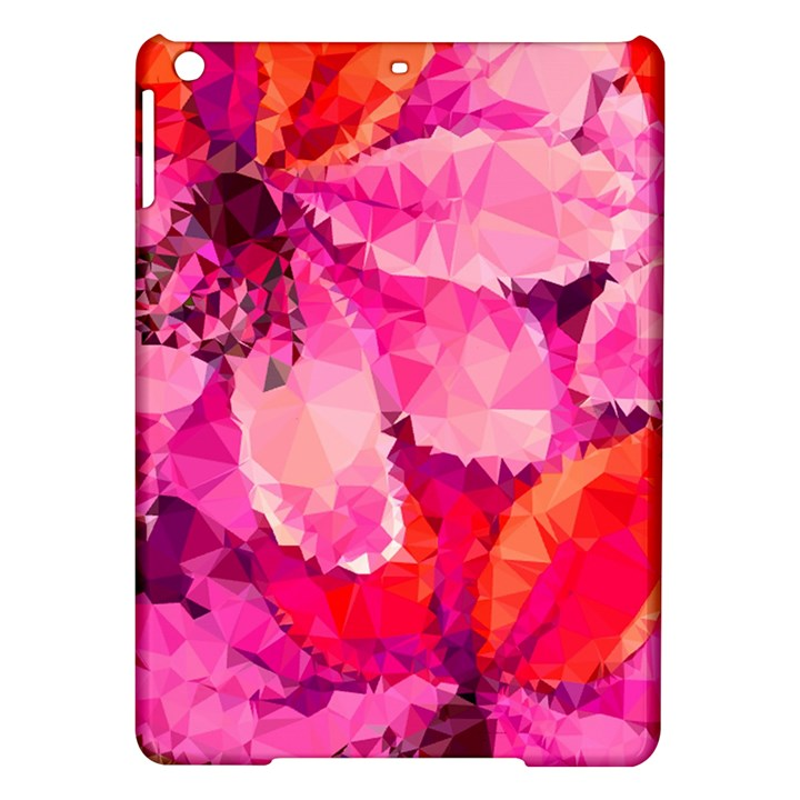 Geometric Magenta Garden iPad Air Hardshell Cases