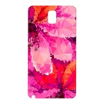 Geometric Magenta Garden Samsung Galaxy Note 3 N9005 Hardshell Back Case Front