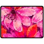 Geometric Magenta Garden Double Sided Fleece Blanket (Large)  80 x60 Blanket Front