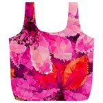 Geometric Magenta Garden Full Print Recycle Bags (L)  Back