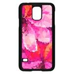 Geometric Magenta Garden Samsung Galaxy S5 Case (Black) Front