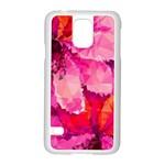 Geometric Magenta Garden Samsung Galaxy S5 Case (White) Front