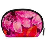 Geometric Magenta Garden Accessory Pouches (Large)  Back